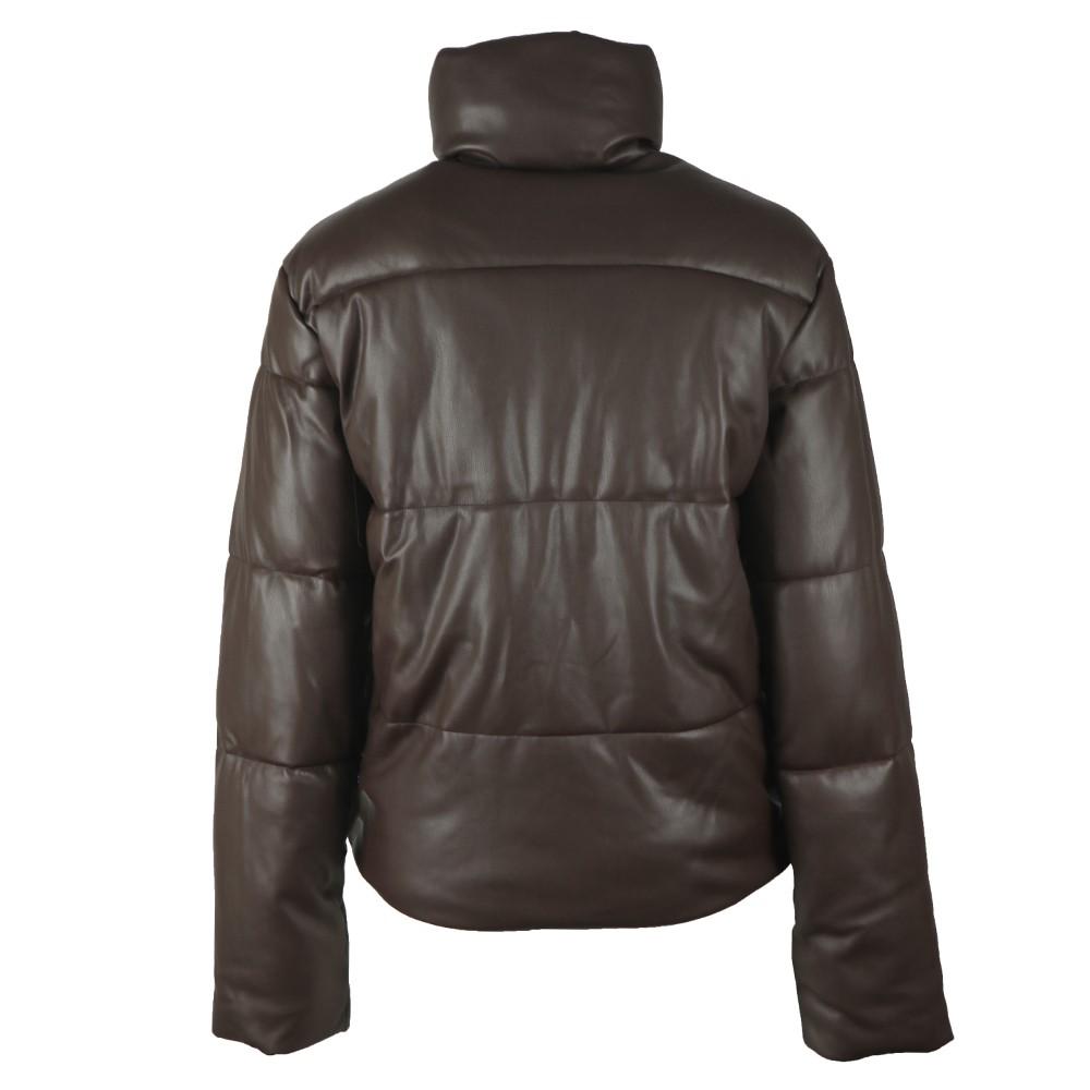 Azizi Faux Leather Puffer Jacket main image