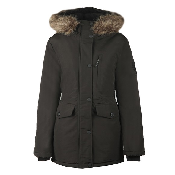 Superdry Womens Black Everest Parka