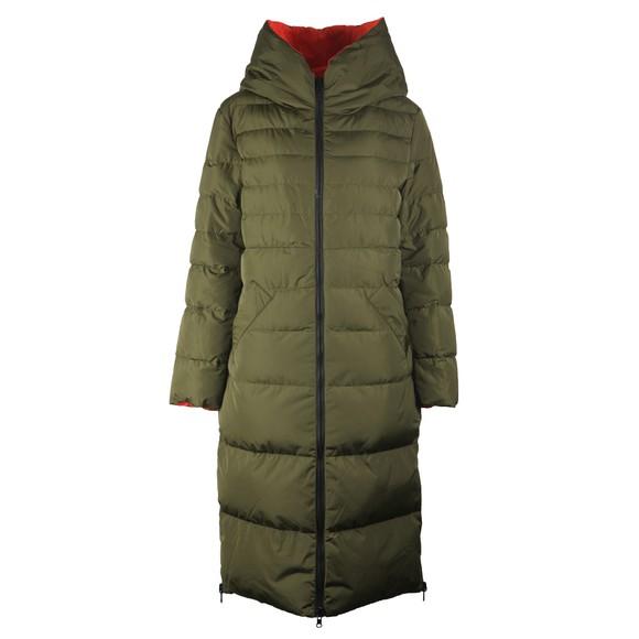 Rino & Pelle Womens Green Keila Reversible Long Padded Coat
