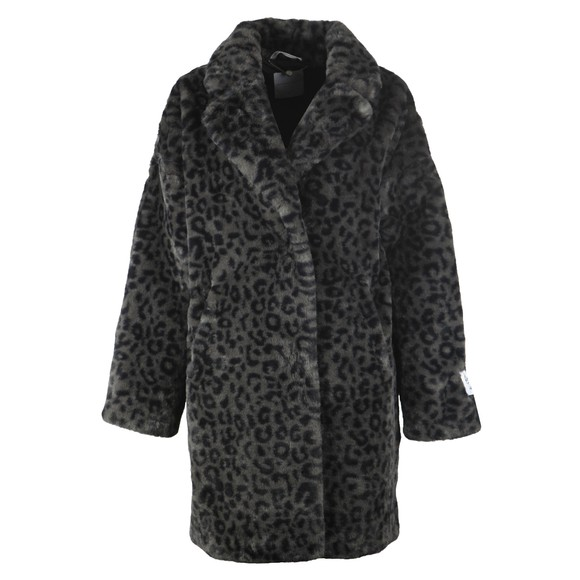 Rino & Pelle Womens Grey Joela Faux Fur Coat