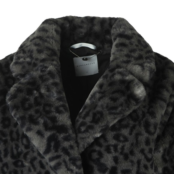 Rino & Pelle Womens Grey Joela Faux Fur Coat main image