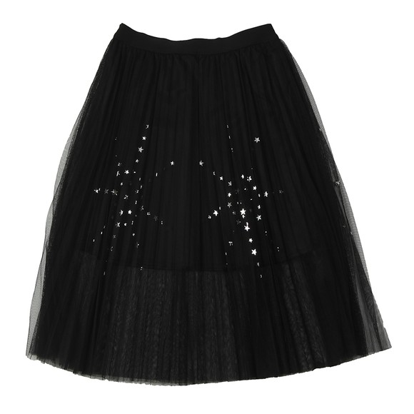Guess Girls Black Mesh Star Skirt