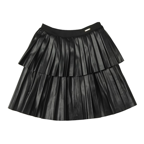 Guess Girls Black PU Leather Skirt