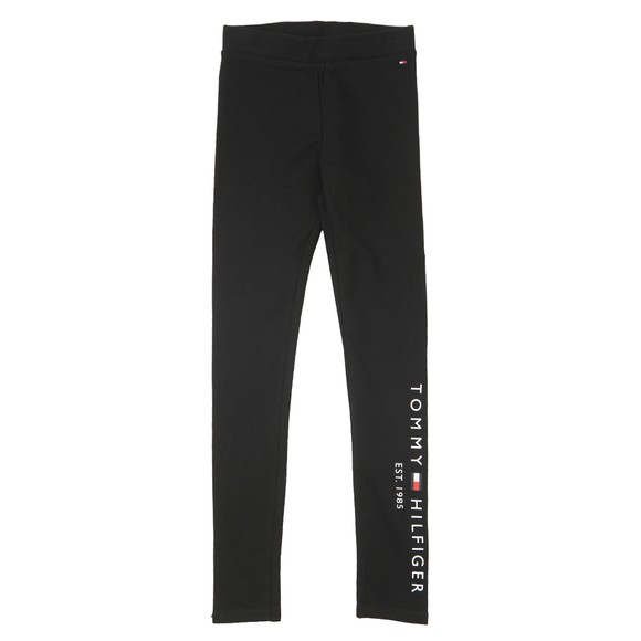 Tommy Hilfiger Kids Girls Black Essential Logo Legging main image