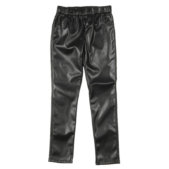 Guess Girls Black PU Leather Legging