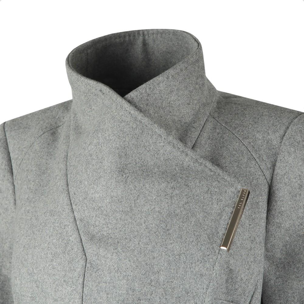 Rose Midi Wool Shoulder Panelled Wrap Coat main image