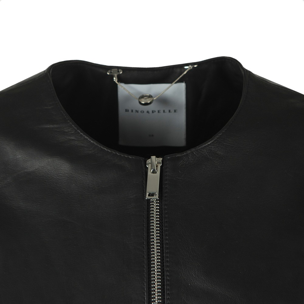 Torri Leather Jacket With Jersey Panel main image