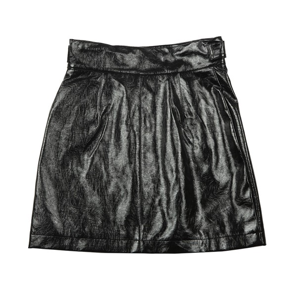 French Connection Womens Black Dia Pu Mini Skirt