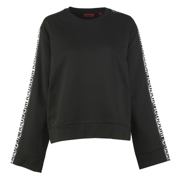 HUGO Womens Black Dalara Sweatshirt