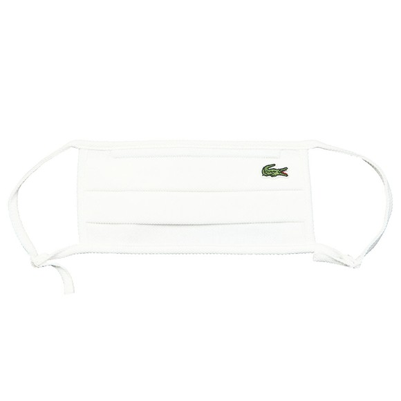 Lacoste Mens White Lacoste Face Covering