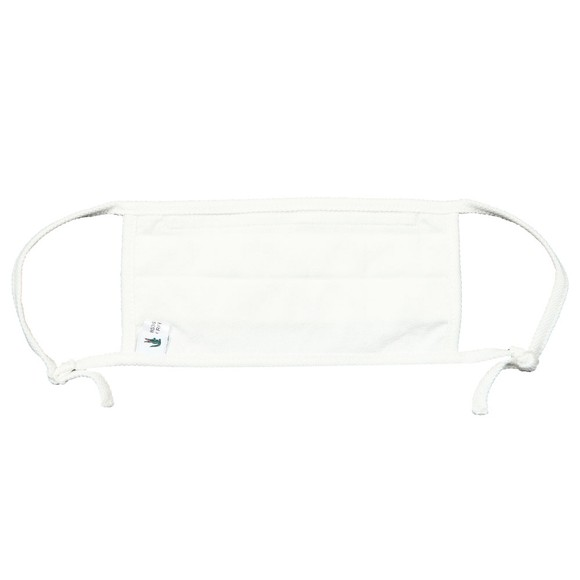 Lacoste Mens White Face Covering