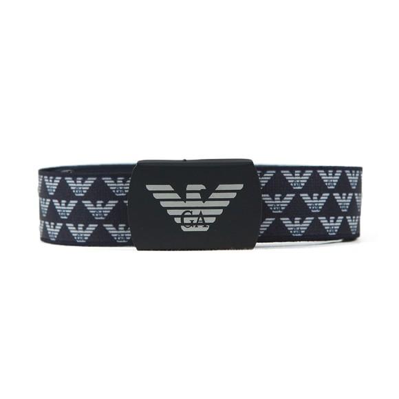 Emporio Armani Boys Blue Cintura Plate Belt
