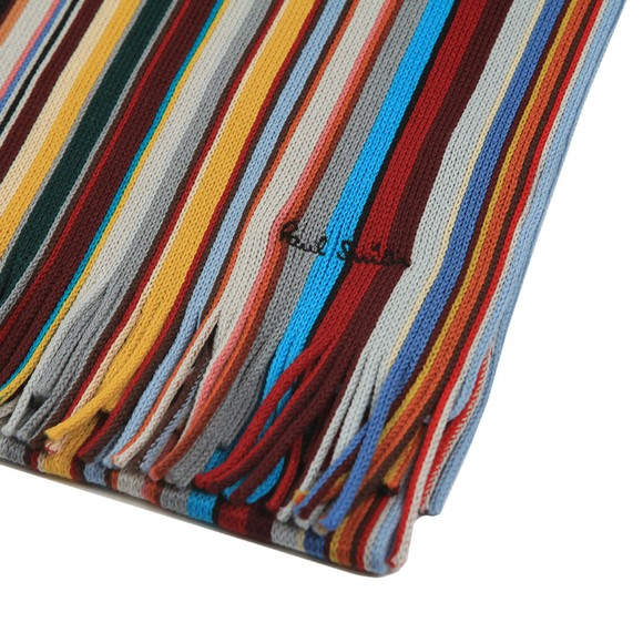 PS Paul Smith Mens Black Reverse Ombre Scarf