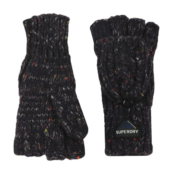 Superdry Womens Blue Gracie Cable Glove