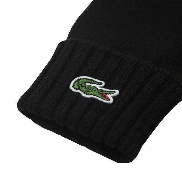Lacoste Mens Black RV2783 Wool Gloves