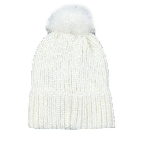Barbour International Womens Off-White Pearl Pom Beanie