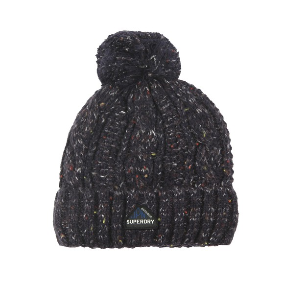 Superdry Womens Blue Gracie Cable Beanie