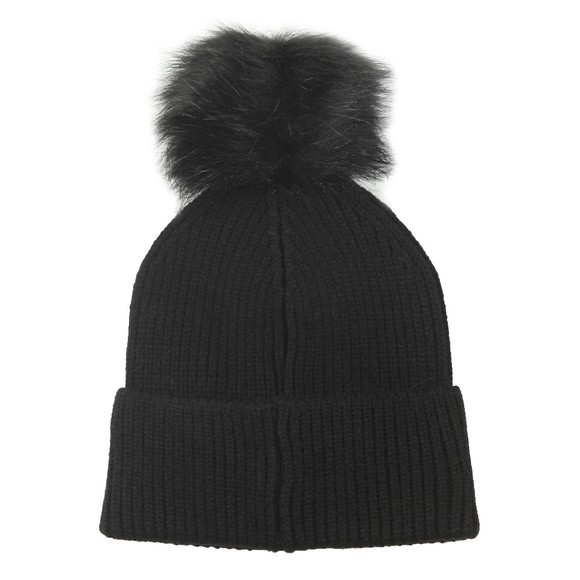 Barbour International Womens Black Mallory Pom Pom Beanie