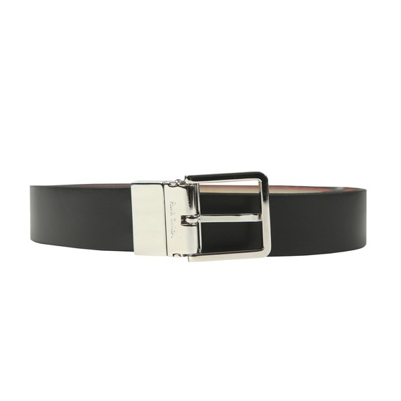 Paul Smith Mens Black Reversible Cut-To-Fit Leather Belt