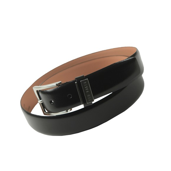 Ted Baker Mens Black Bilding Leather Belt
