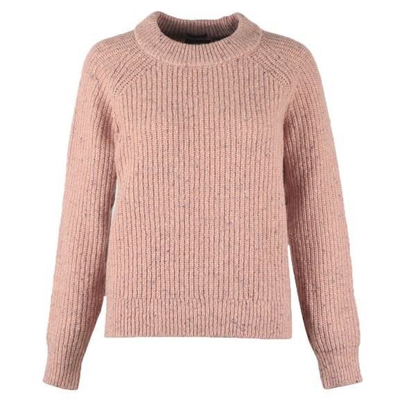 Superdry Womens Pink Freya Tweed Crew Jumper