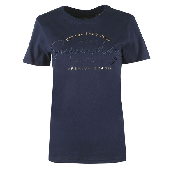 Superdry Womens Blue Established T Shirt