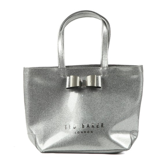 Ted Baker Womens Grey Gigacon Bow Glitter Small Icon Bag