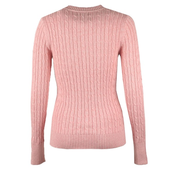 Superdry Womens Pink Croyde Cable Crew Jumper