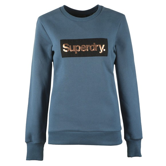 Superdry Womens Blue CL Patina Crew Sweatshirt