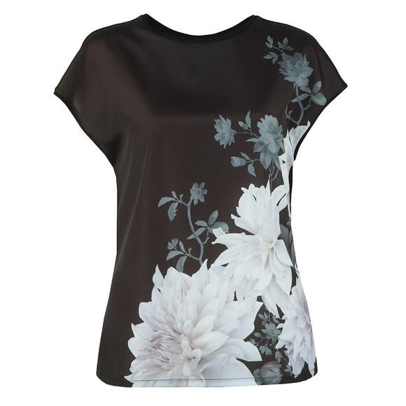 Ted Baker Womens Black Clove Woven Front T Shirt