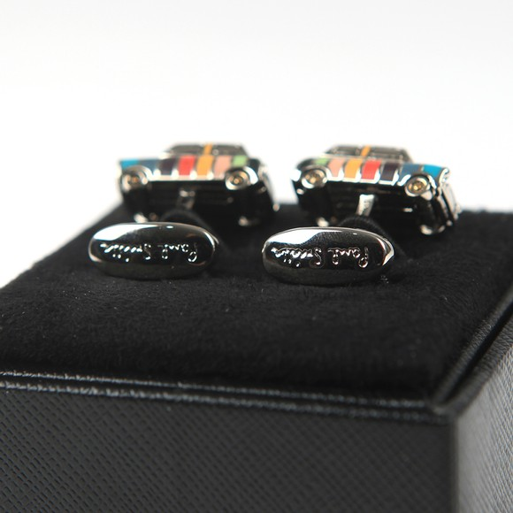 Paul Smith Mens Multicoloured Mini Car Cufflink main image