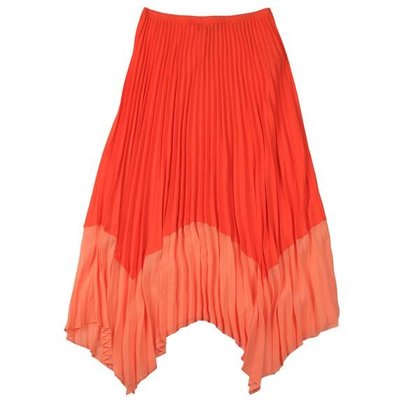 French Connection Womens Orange Ali Pleat 2 Tone Skirt main image