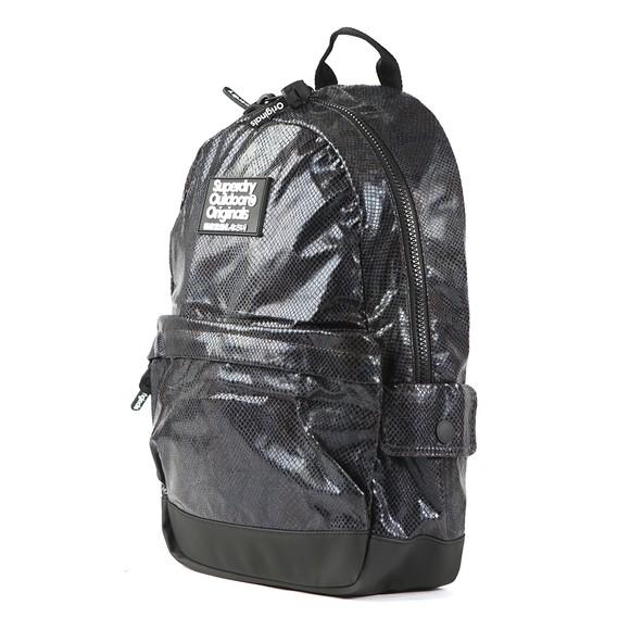Superdry Womens Black Glitter Montana Backpack