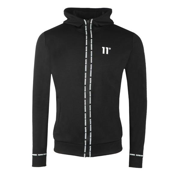 Eleven Degrees Mens Black Full Zip Sweatshirt
