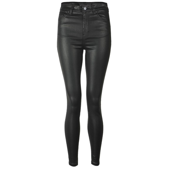 Superdry Womens Black High Rise Skinny Coated Jean