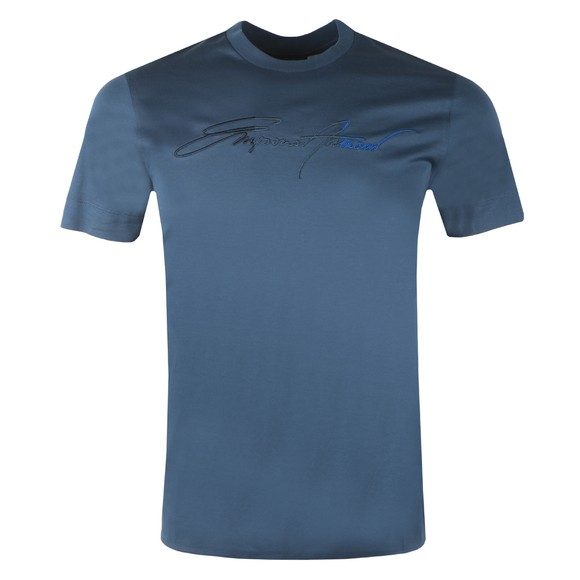 Emporio Armani Mens Blue Signature T Shirt main image