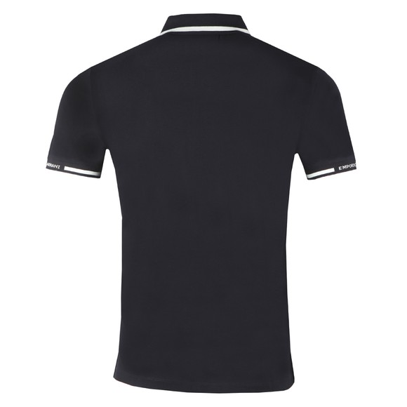 Emporio Armani Mens Blue Stripe Collar Polo Shirt main image