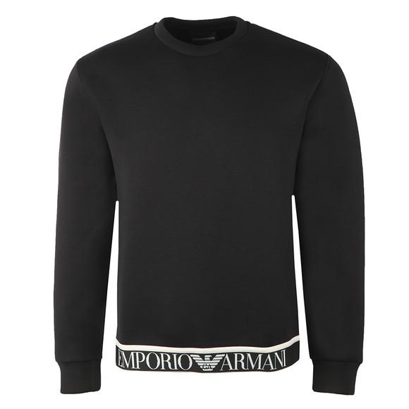 Emporio Armani Mens Black Tape Waist Sweatshirt