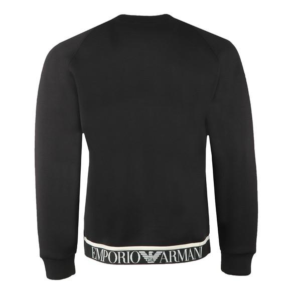 Emporio Armani Mens Black Tape Waist Sweatshirt main image