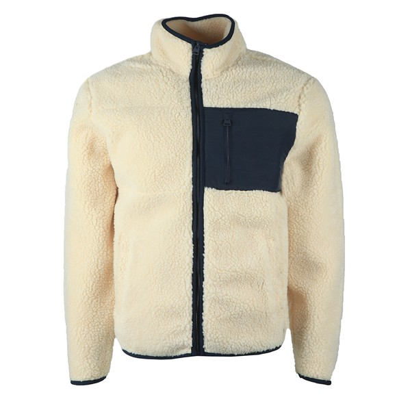 Superdry Mens Off-White NYC Sherpa Jacket