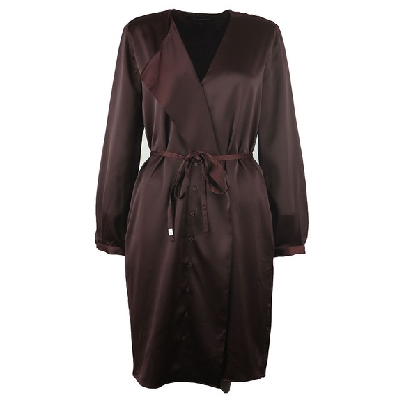 French Connection Womens Purple Tirsa Drape Front Dress