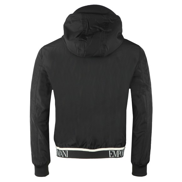 Emporio Armani Mens Black Waist Logo Hooded Jacket main image