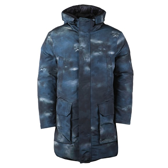 Emporio Armani Mens Blue Down Parka