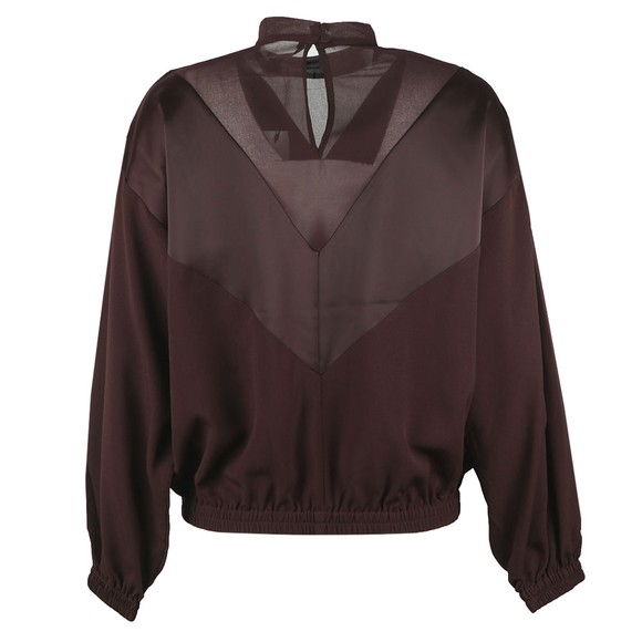 French Connection Womens Purple Erla Mixed Chevron Top main image
