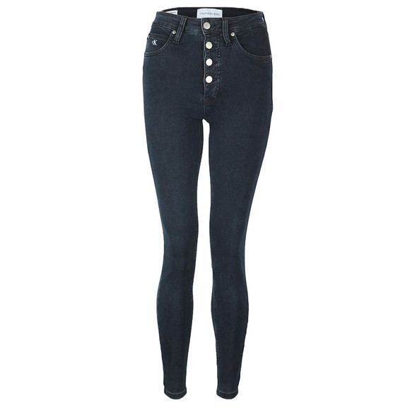 Calvin Klein Jeans Womens Blue High Rise Super Skinny Jean