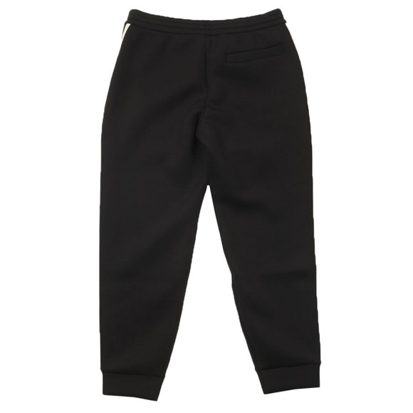 Emporio Armani Mens Black Wide Tape Jogger
