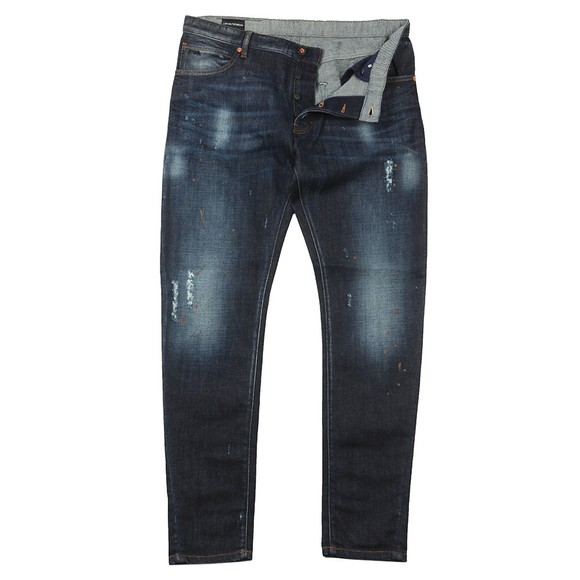 Emporio Armani Mens Blue J09 Slim Tapered Jean
