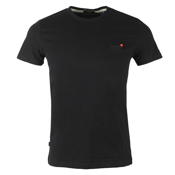 Superdry Mens Black Vintage Emb T-Shirt