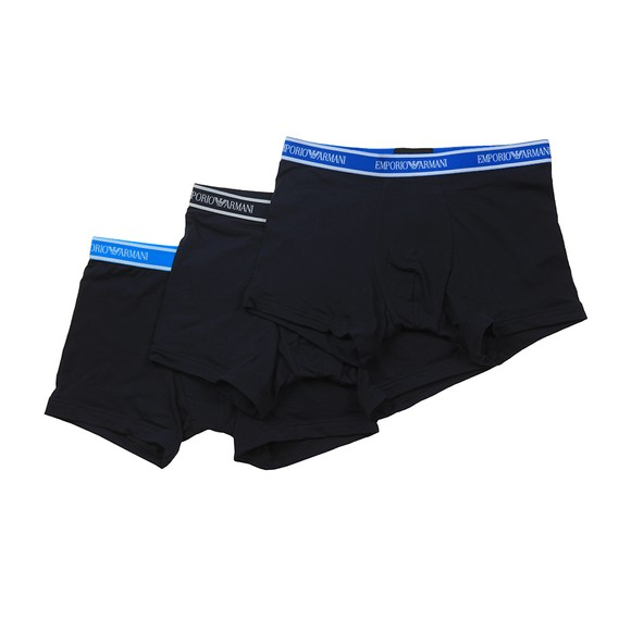 Emporio Armani Mens Blue 3 Pack Stretch Boxer