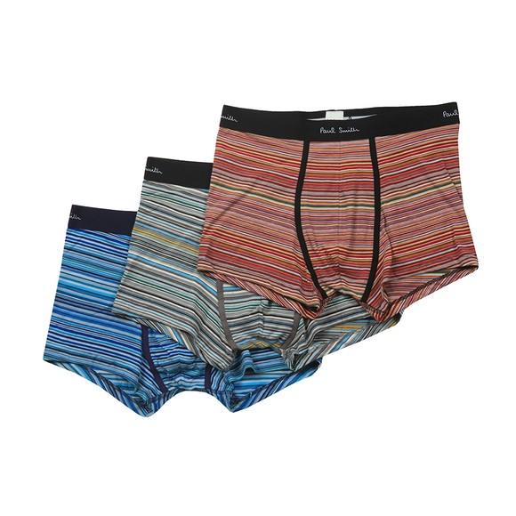 Paul Smith Mens Multicoloured 3 Pack Stripe Trunks